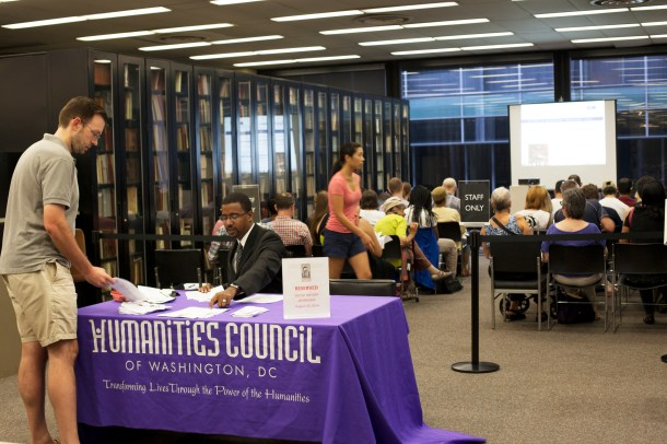 The Humanities Council of Washington, D.C. publicizes the event, handles registration and, through funds from a Historic Preservation Fund Grant, provides lunch for participants.