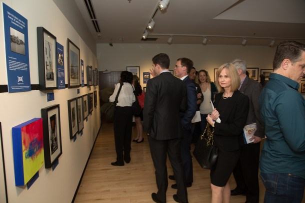 The exhibit, which features photography, paintings and mixed media works, document sites that are on the DC Preservation League's Most Endangered List.