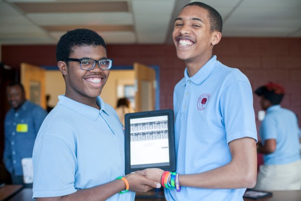 Delonte Cole and Isaiah Thomas's National History Day project was submitted in the website category, exploring the leadership and legacy of Abraham Lincoln.