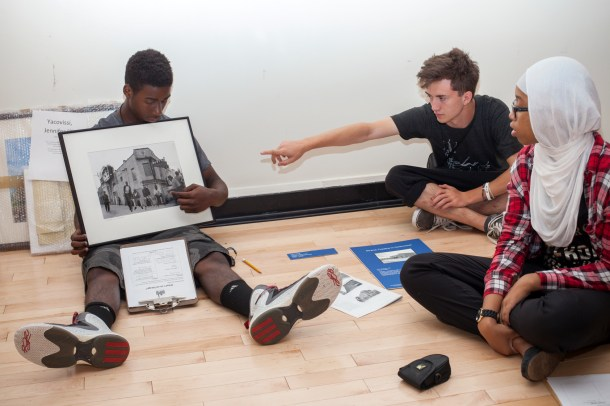 Participants in the IWWL program used images from the Historical Society's permanent collection to explore the dual nature of photography as both documentary and art.