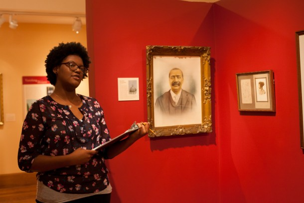 Students explore the Historical Society's exhibitions as part of the structured class visits.