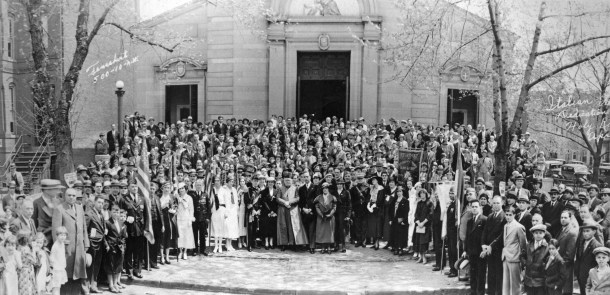 Dedication ceremonies at Holy Rosary Church, ca 1934. Historical Society of Washington, D.C., General Photograph Collection (CHS 11256).