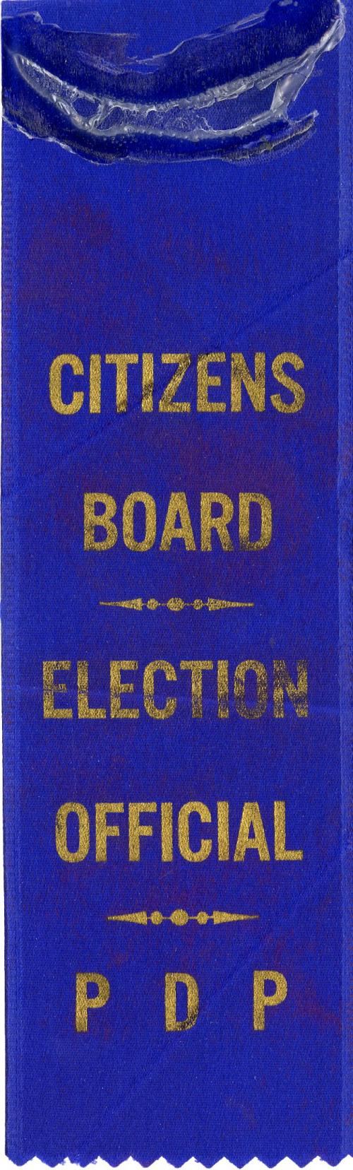 Ribbon, PDP Citizens Board Election, 1970
