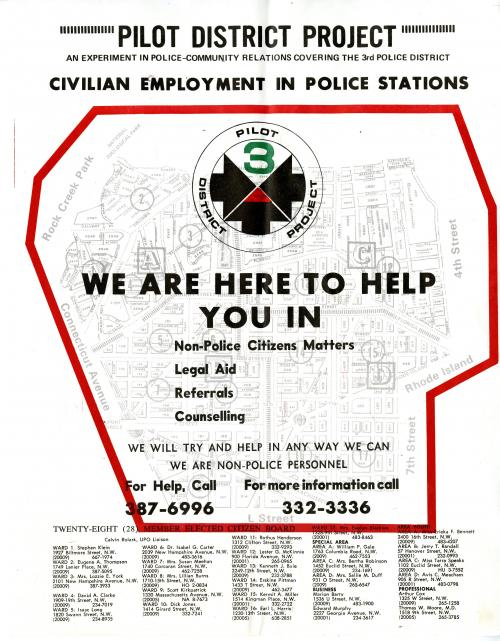 PDP Civilian Employment in Police Stations flyer, c.1971