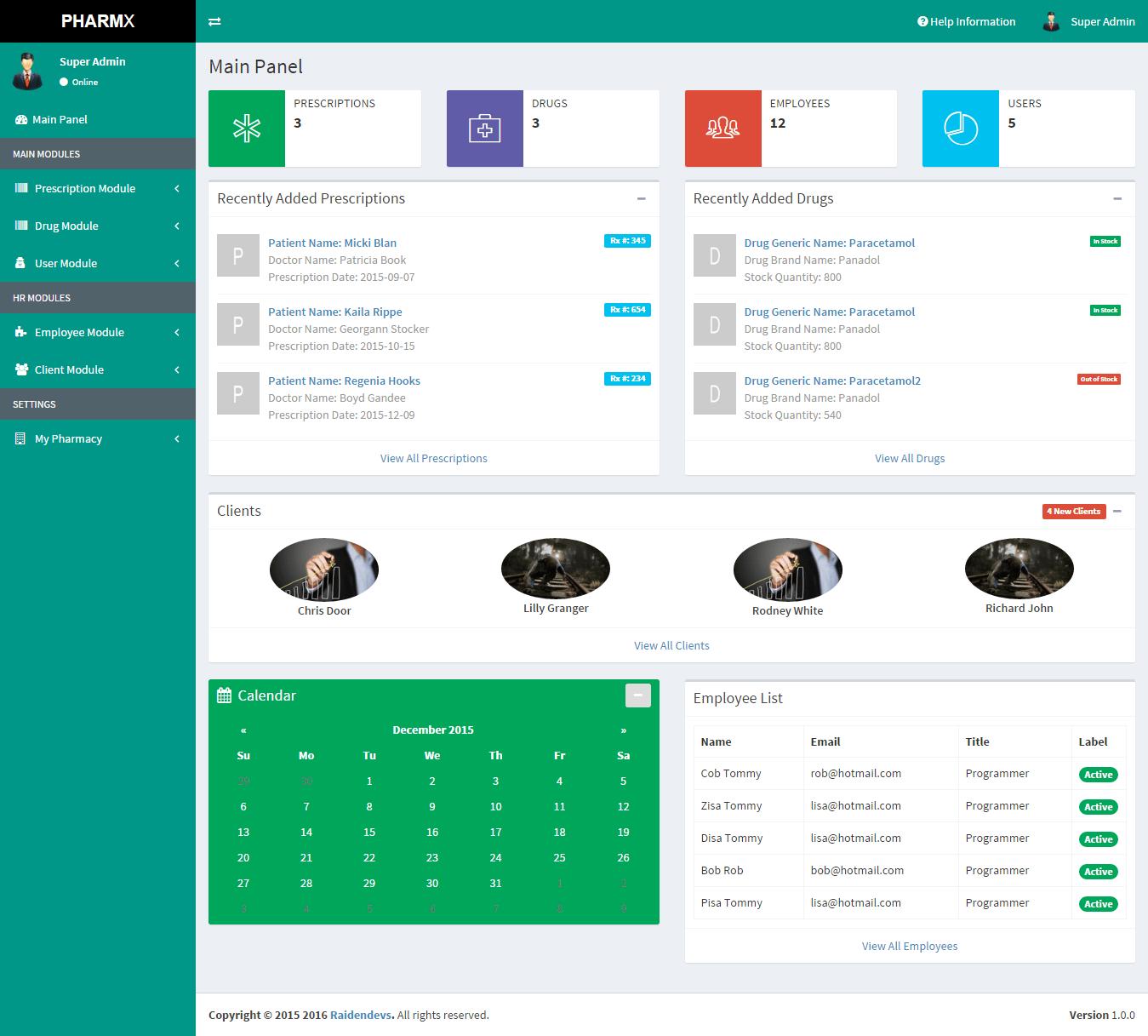 Pharmacy Data Management System DCI Marketplace MarketPlace For Virtual Exchange