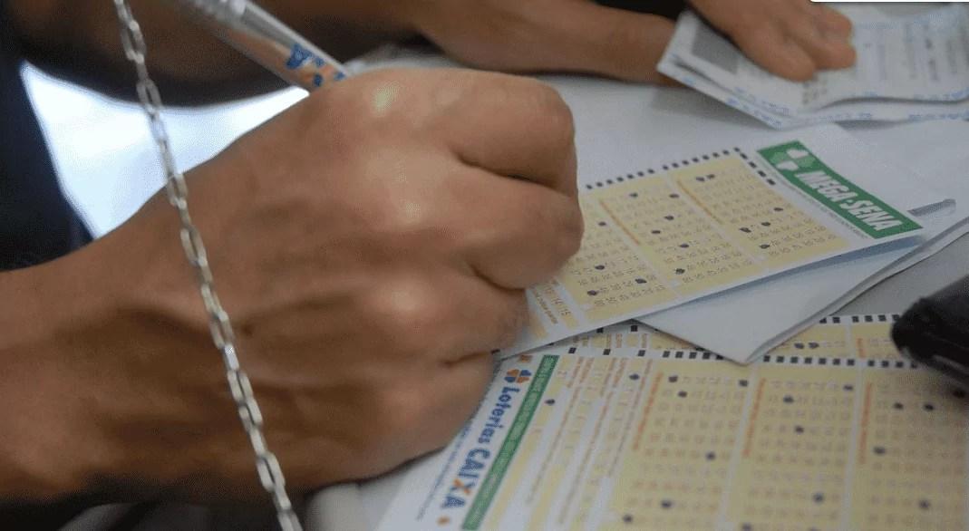 Imagem mostra aposta para ganhar na loteria