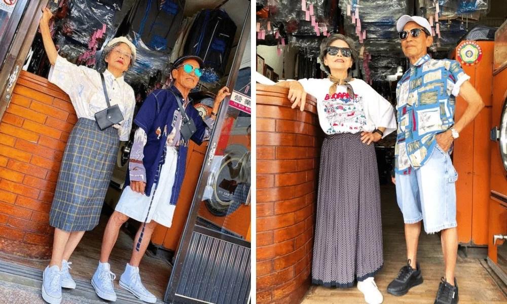 casal de idosos de Taiwan