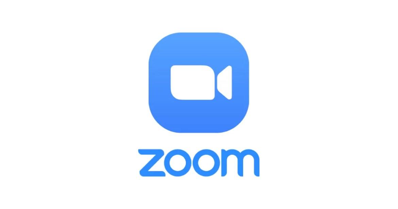 Imagem mostra o logotipo da zoom