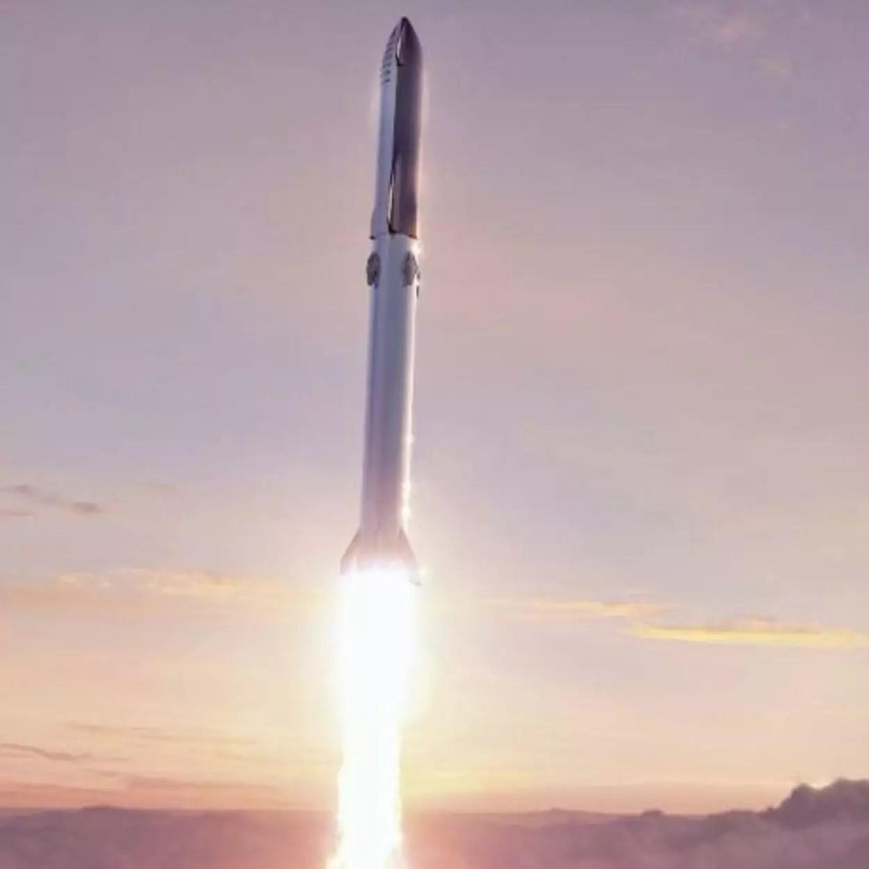 primeiro voo da starship