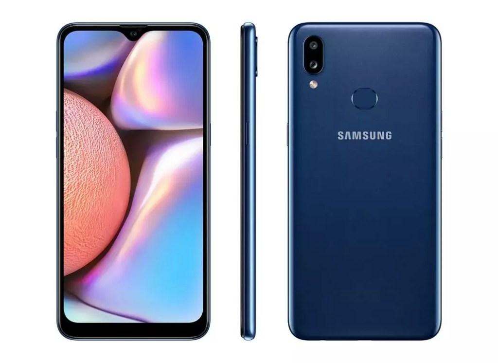 Imagem de divulgação do smartphone Galaxy A10s