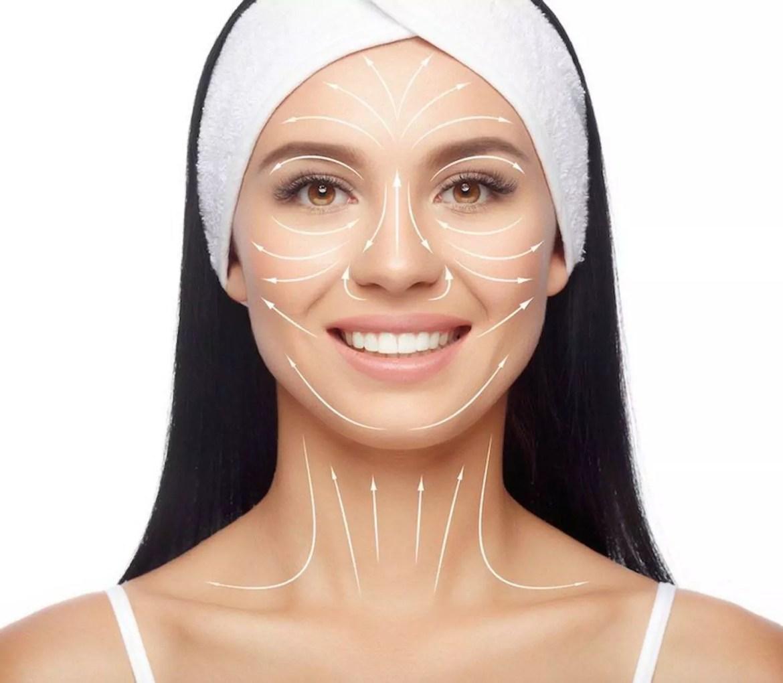 como fazer a massagem no rosto