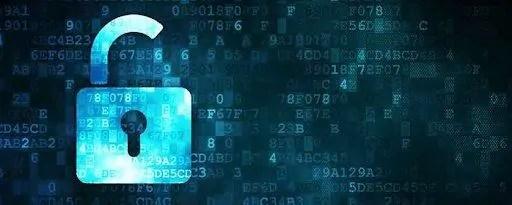 cadeado com dados criptografados em fundo azul