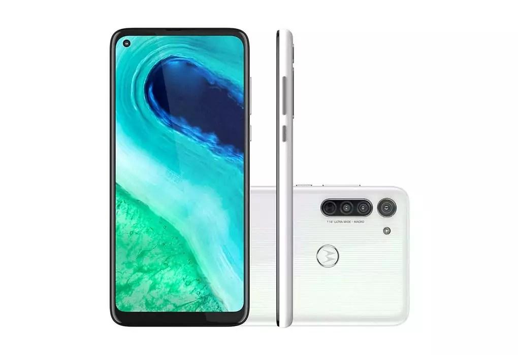 Imagem de divulgação do celular Motorola Moto G8