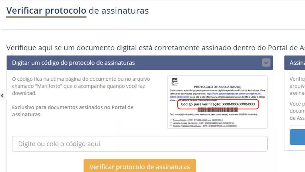 exemplo de ativo digital utilizado para autenticar documentos