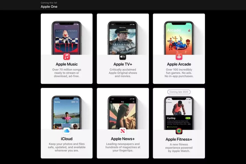 Os serviços que o Apple One oferece