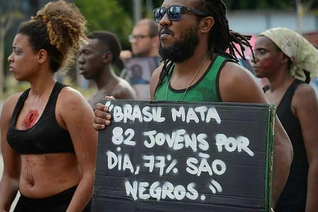 manifestação racismo estrutural