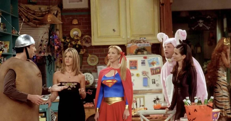 Imagem mostra episódio de Halloween da série Friends