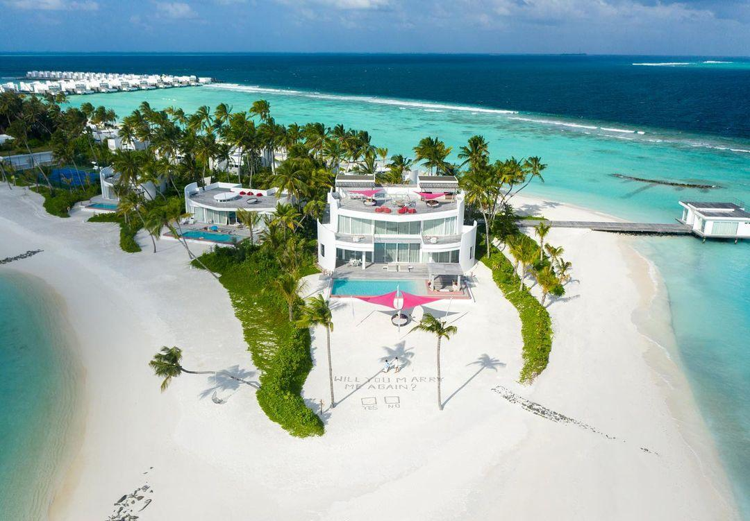 Imagem mostra hotel nas Maldivas