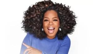 Imagem mostra Oprah em matéria sobre pessoas pobres que ficaram ricas