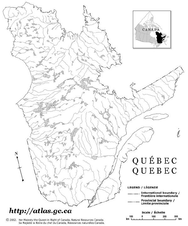 Atlantic Canada Map Outline