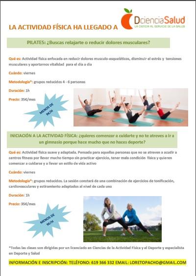 actividad física y pilates
