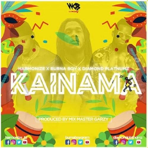 Harmonize Kainama cover art  500x500 - Harmonize ft. Burna Boy & Diamond Platnumz - Kainama (Prod. by Master Garzy)