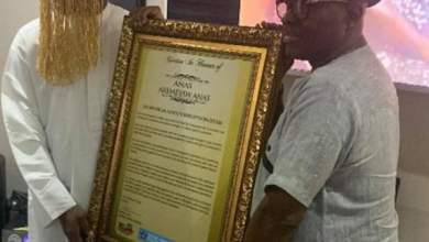 Photo of Anas honoured by MUSIGA as its 'Anti-Corruption Star'