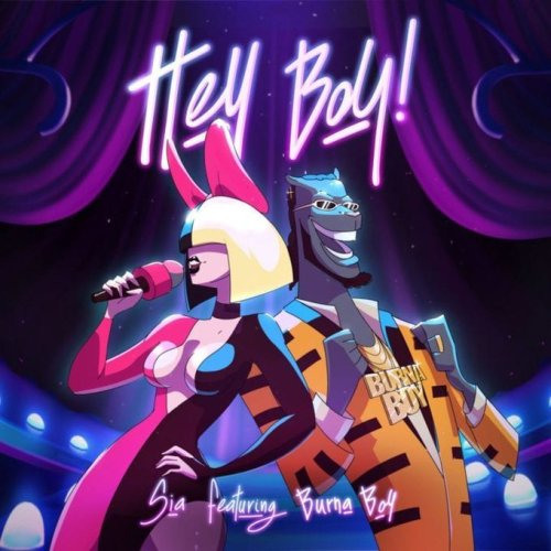 Burna Boy and Sia 500x500 - Sia Links Up With Burna Boy For Soon To Be Released New Single 'Hey Boy'