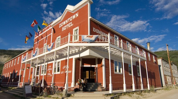 Dawson City Music Festival places to stay sponsors Downtown Hotel Dawson City, Yukon