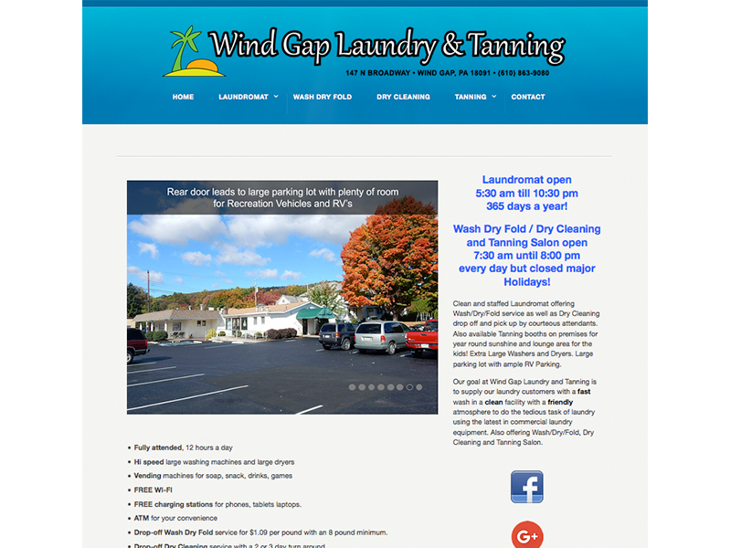 Wind Gap Laundry Website