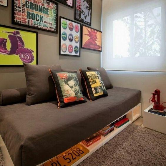 sofa cinza e almofadas coloridas zuo modern providence modelos de divertidas diferentes para você