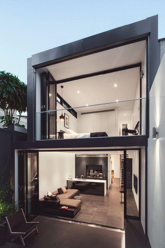 Fachadas de sobrados veja 110 modelos modernos e lindos for Piscinas de 2 metros de ancho