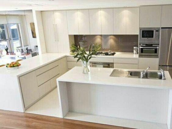Cozinha Com Ilha Central  Mais de 125 Modelos de Projetos