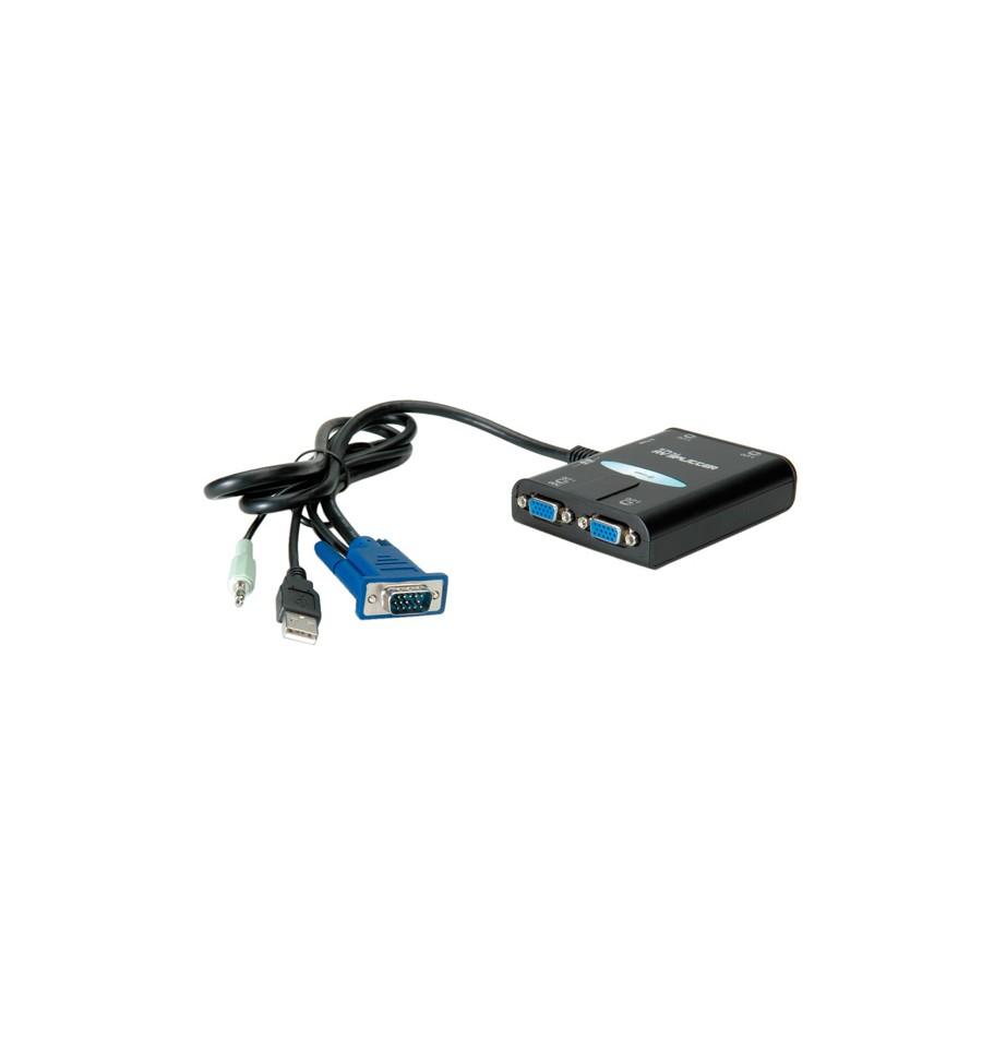 VALUE Portable VGA Video Splitter, 4-way, 450 MHz, with Audio