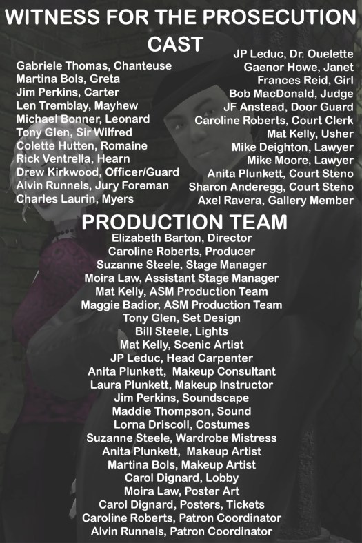 Cast and Crew for Website