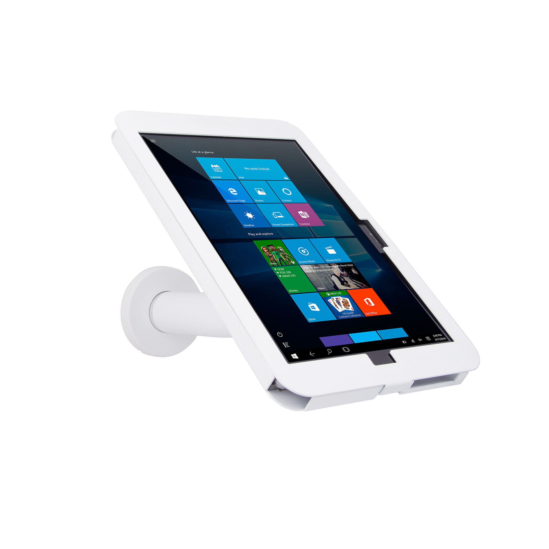 Elevate II Wall Countertop Mount Kiosk for Surface Pro 4 & 3 (White)