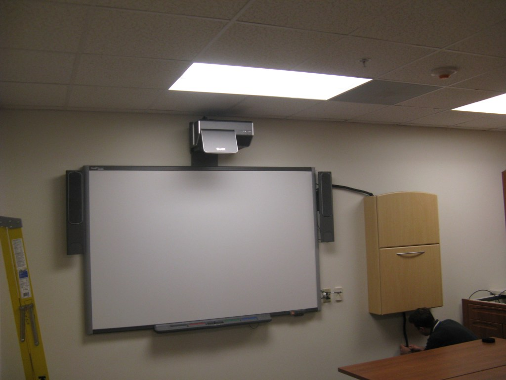 Digital Whiteboards With Wall Mount Cabinet For Pc