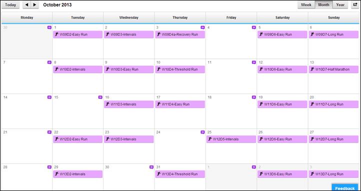 Calendar App Workout