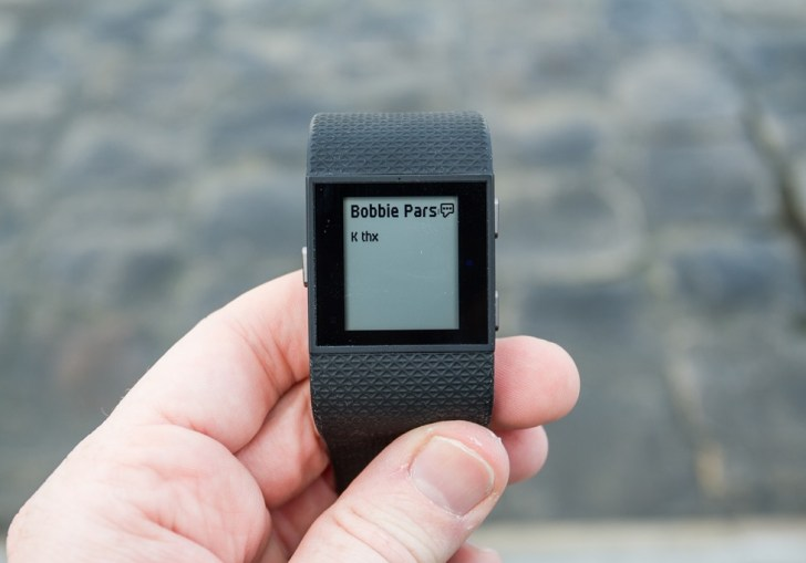 Messages From Fitbit Surge To Windows Phone