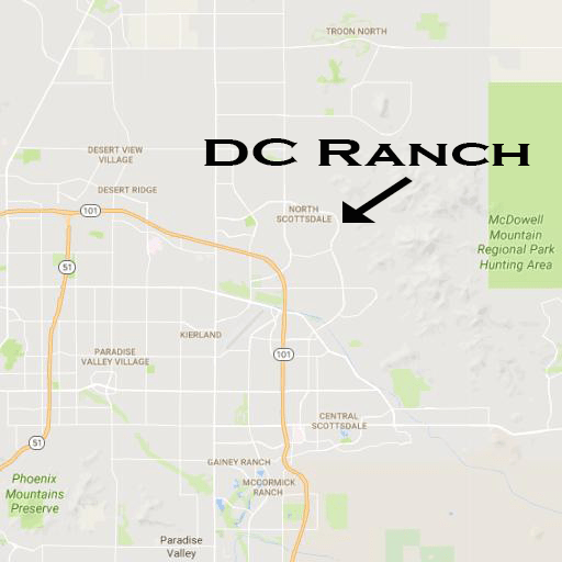 Map to DC Ranch in Scottsdale AZ 85055