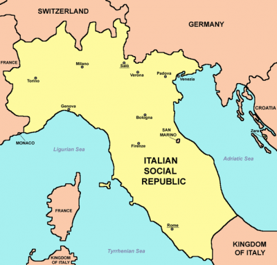 ITA - Italian Social Republic Map