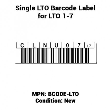 Ultrium Single BCODE-LTO LTO Barcode Label for LTO 1-7
