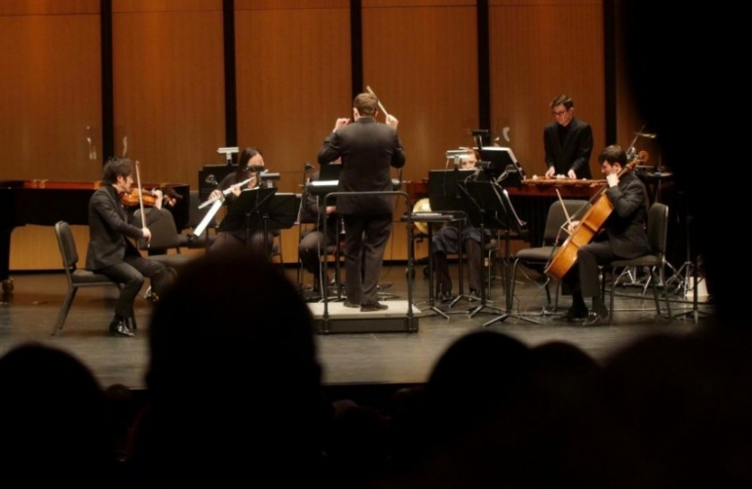 Richard McKay conducts Dallas Chamber Symphony on Paul Moravec's Chamber Symphony.