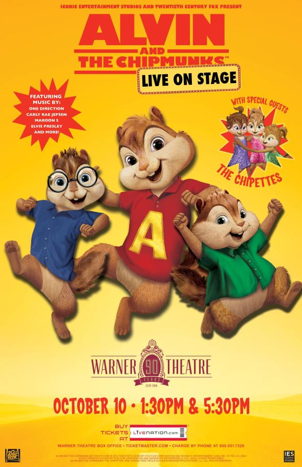 Alvin And The Chipmunks Live On Stage Giveaway Closed