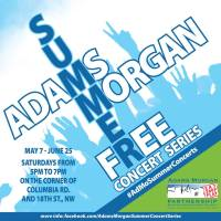 Adams Morgan Free Summer Concert Series 2016 Flyer