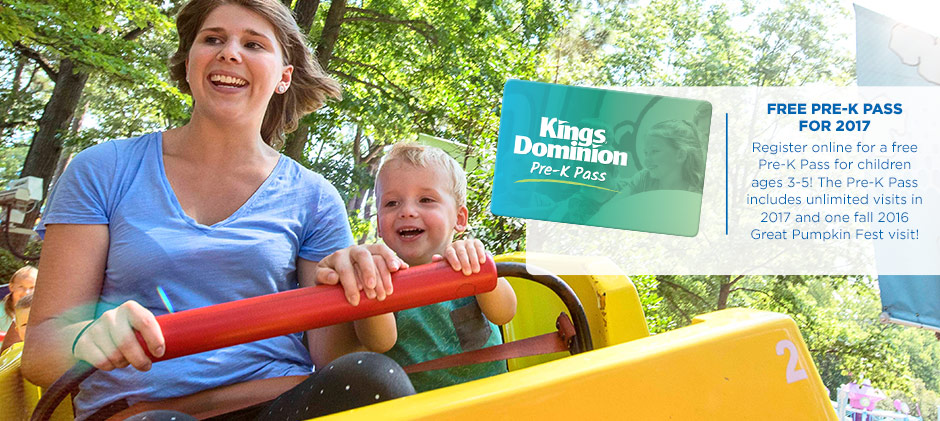 Free Kings Dominion Pre K Pass For 2017
