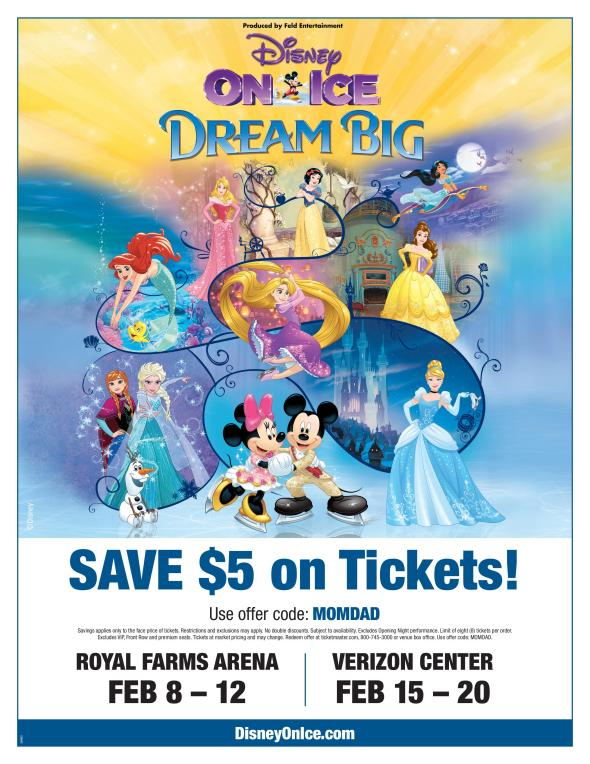 Disney On Ice - Dream Big Flyer & Discount
