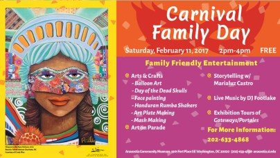 Anacostia Museum Carnival Family Day - Banner Ad February 2017