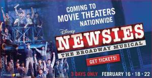 NEWSIES at a Theatre Near You -Banner