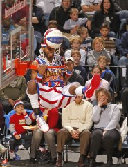 The Harlem Globetrotters entertain fans at the Bradley Center in Milwaukee, Wi., Friday, Dec, 31,2010. (Jeffrey Phelps for the Harlem Globtrotters)